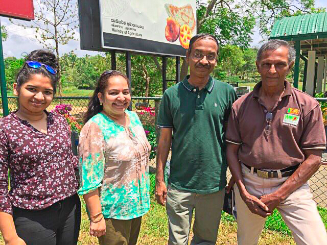 Shankar, Asha and Soumya with Upali touring in Sri Lanka